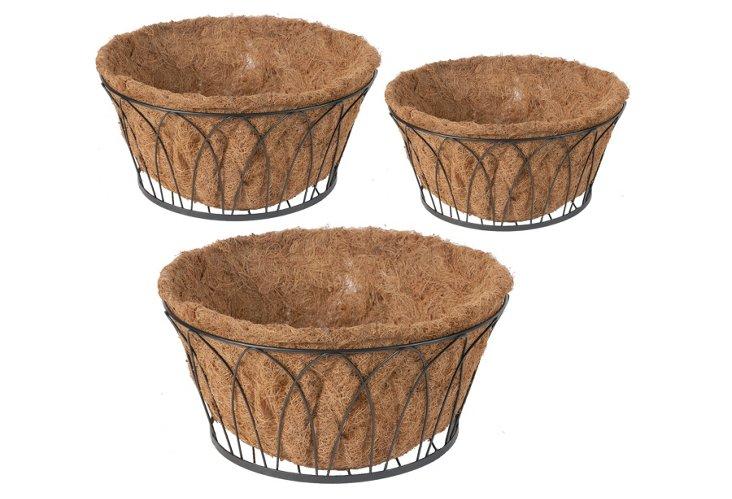 S/3 Round Metal Baskets