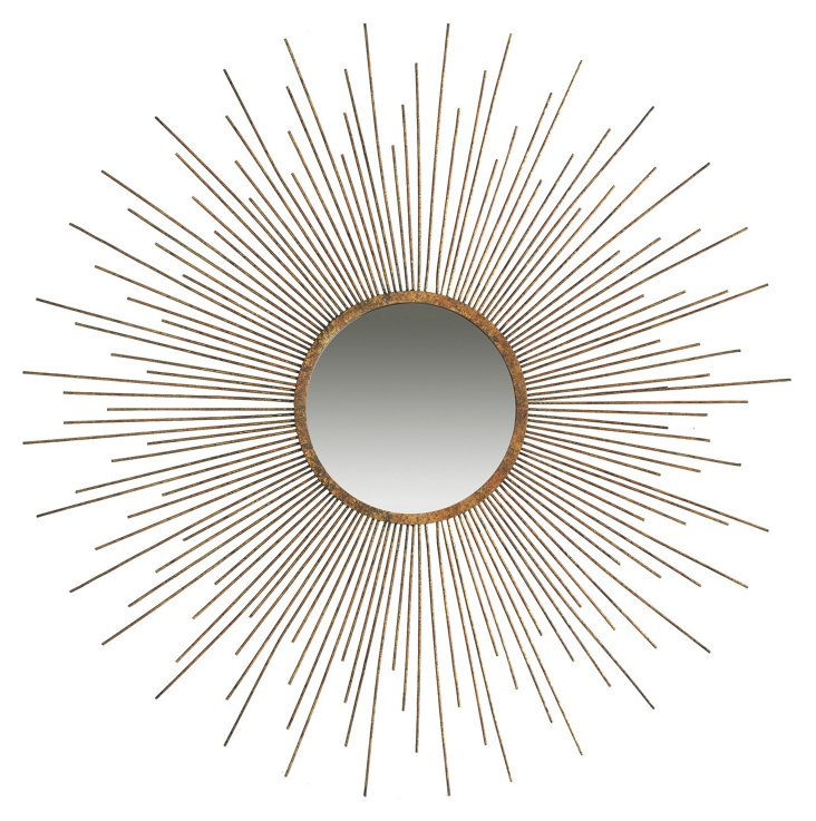 Tessa Wall Mirror, Bronze