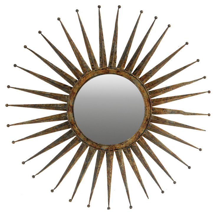 Isla Wall Mirror, Bronze