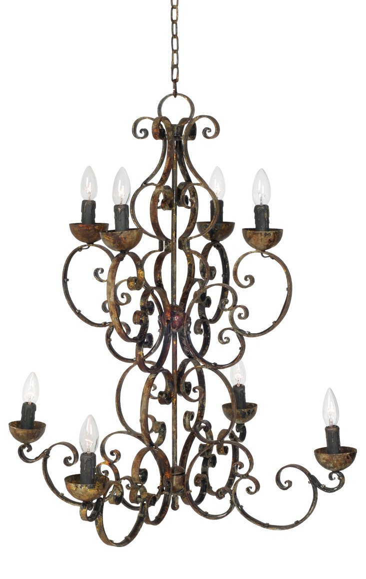 Two-Tiered 8-Light Chandelier