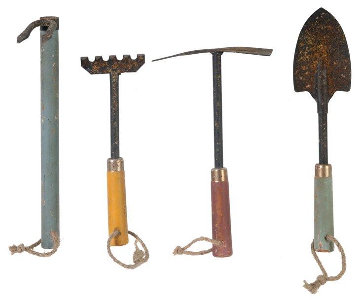 Asst. of 4 Rustic Garden Tools
