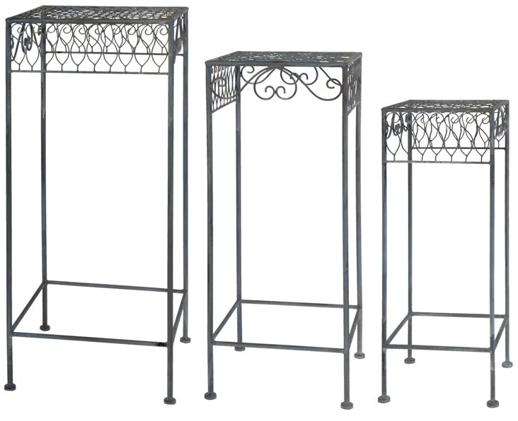 Scrollwork Plant Stands, Asst. of 3