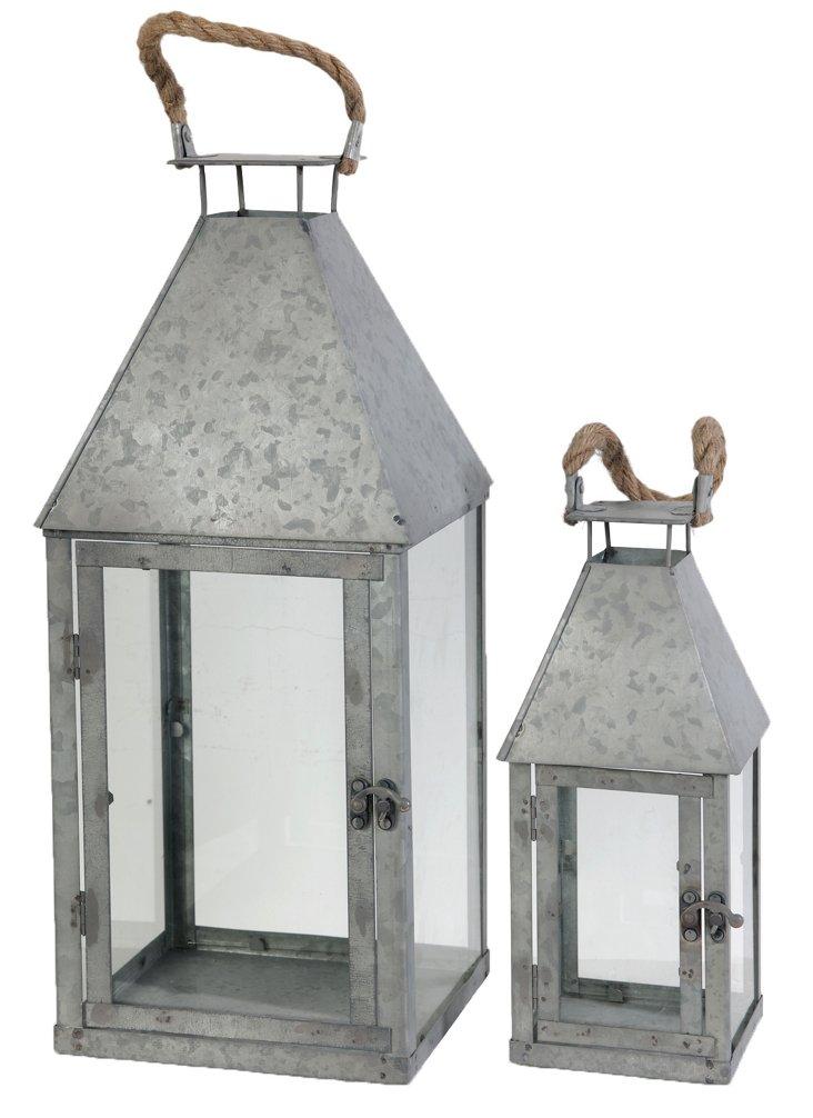 Asst. of 2 Metal Lanterns, Gray