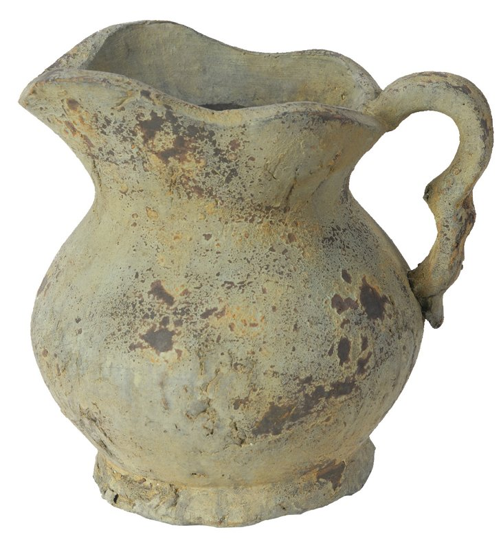 "9"" Ceramic Pitcher, Sage"