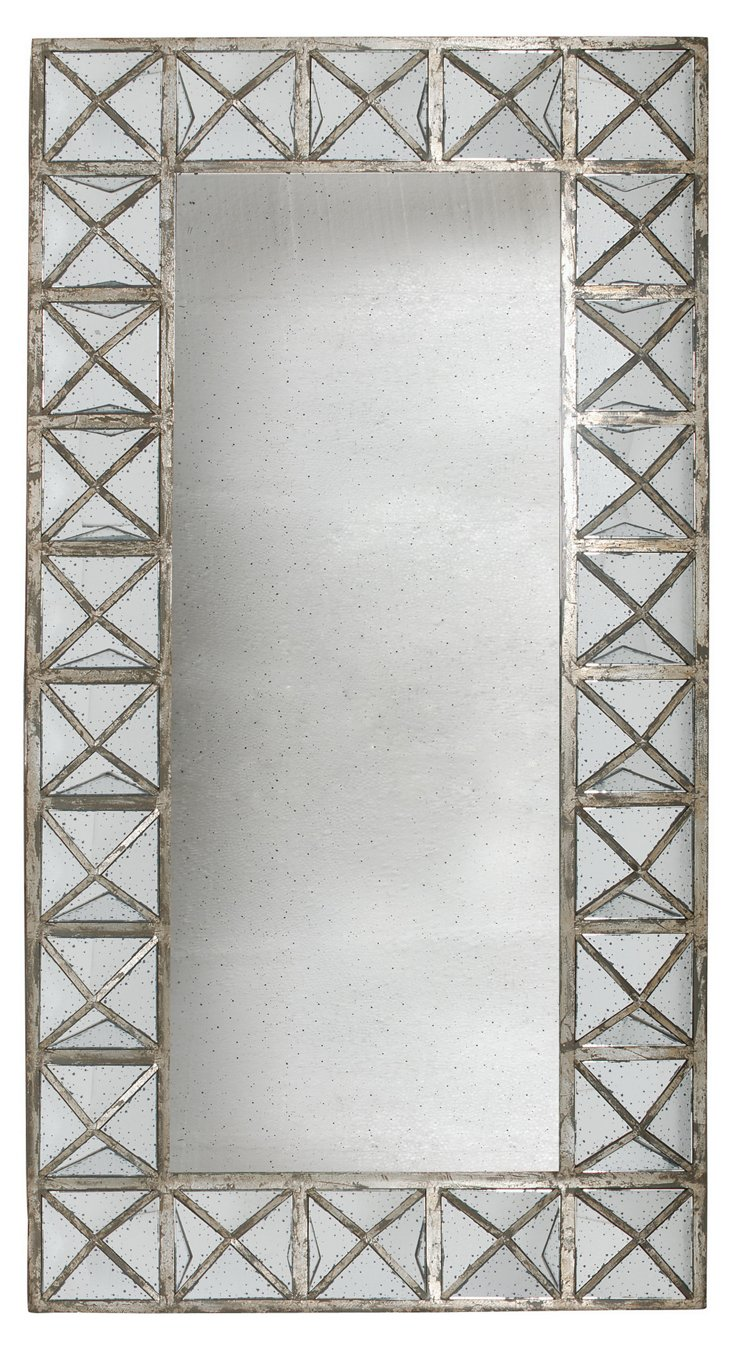 Perce Cross-Framed Mirror