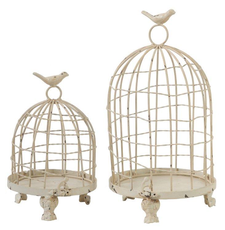 Cream Birdcages, Asst. of 2