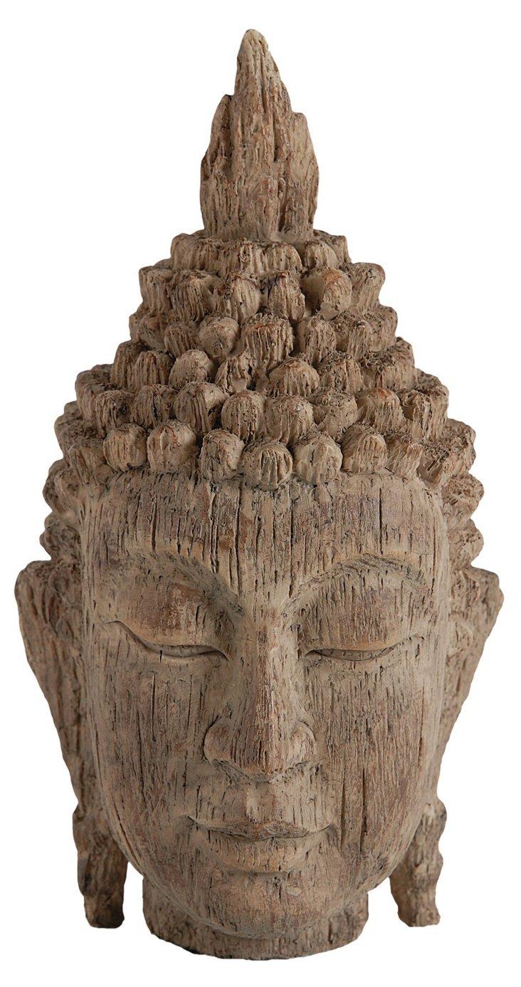 "12"" Buddha Head, Brown"