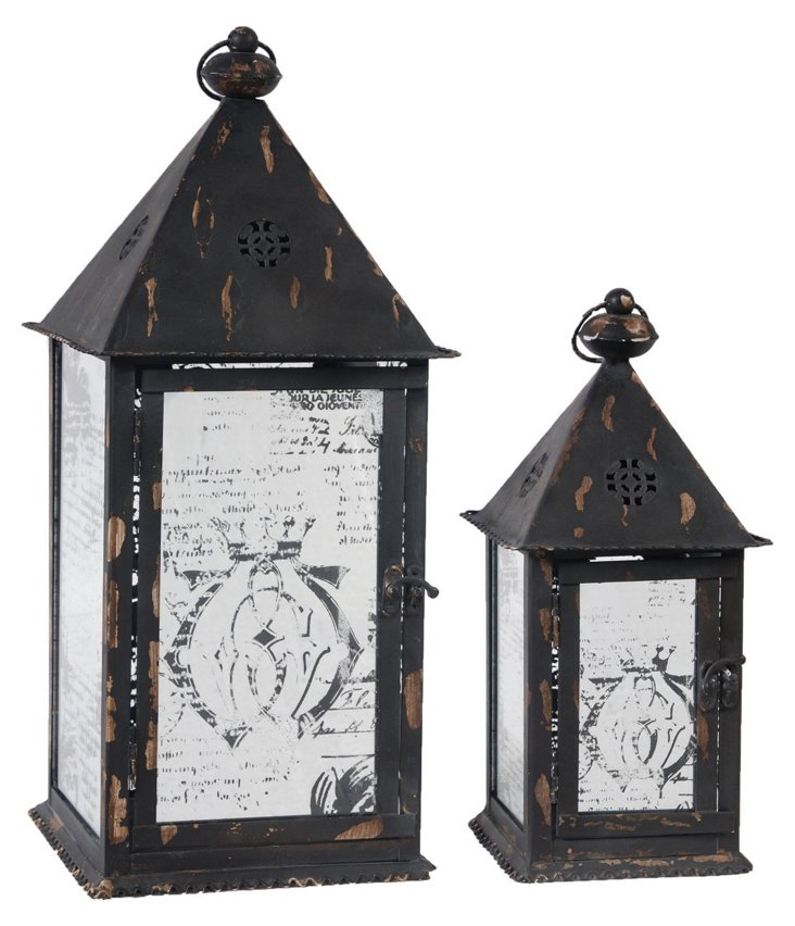 Pitched Mirror Lanterns, Asst. of 2
