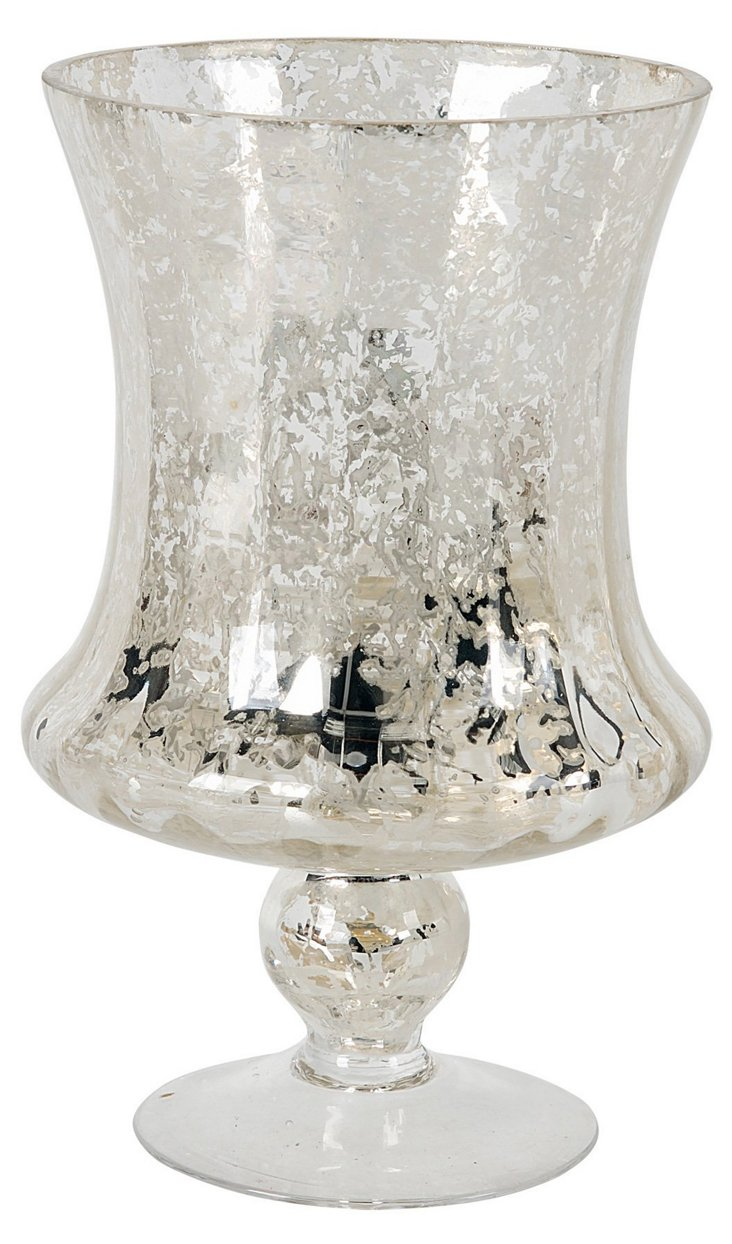 """10"""" Silvered-Glass Chalice"""