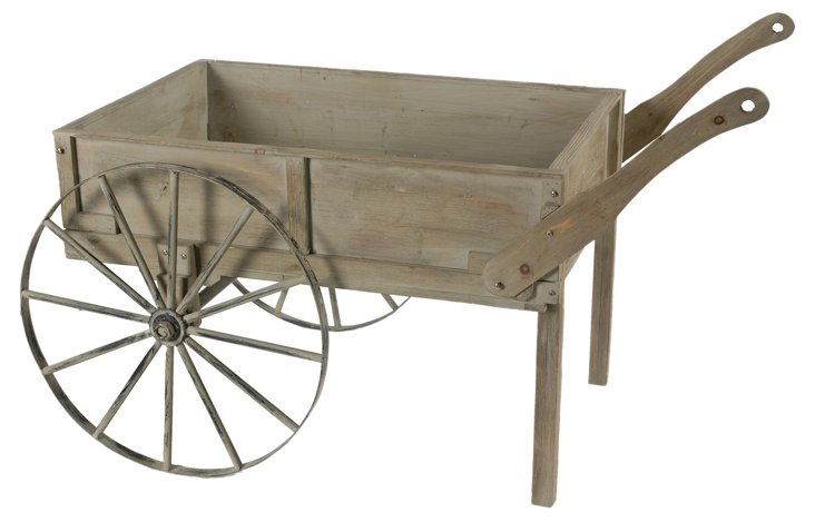 "56"" Wood & Metal Cart, Brown"