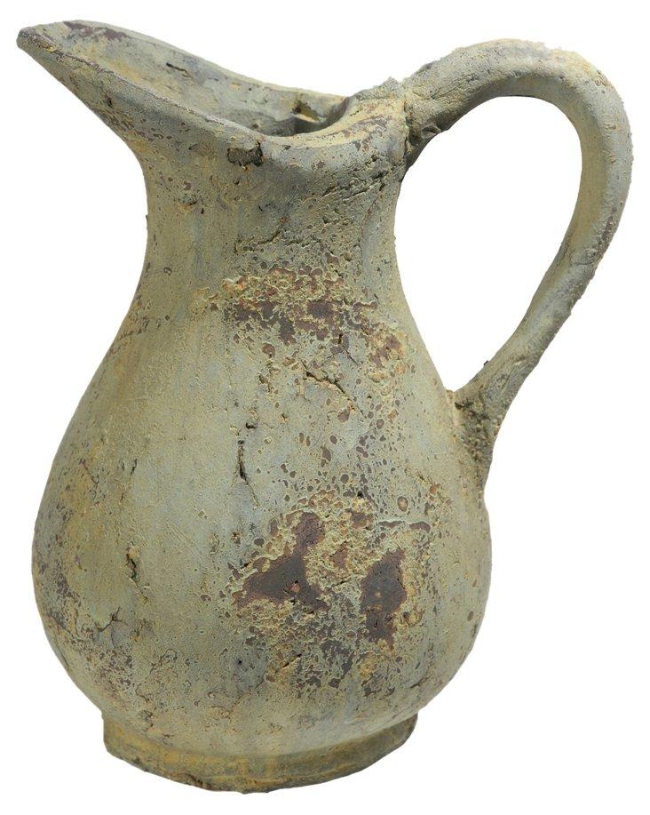 "11"" Ceramic Pitcher, Green"