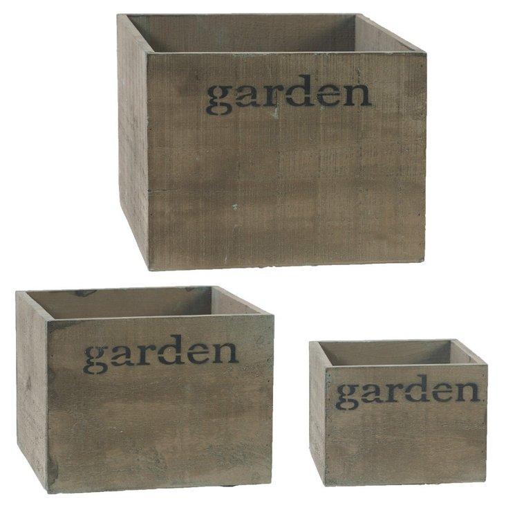 S/3 Garden Boxes
