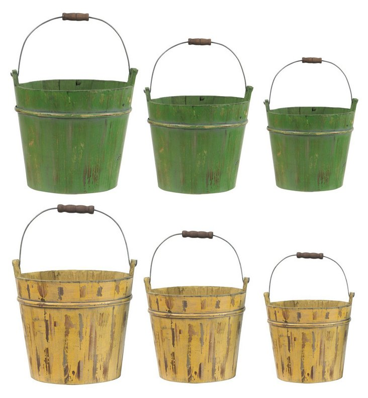 S/6 Gardening Buckets