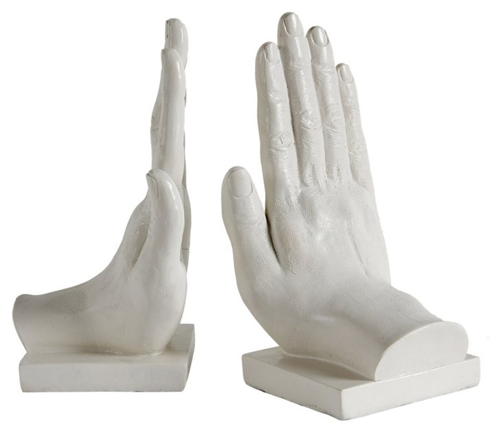 Pair of High Five Bookends