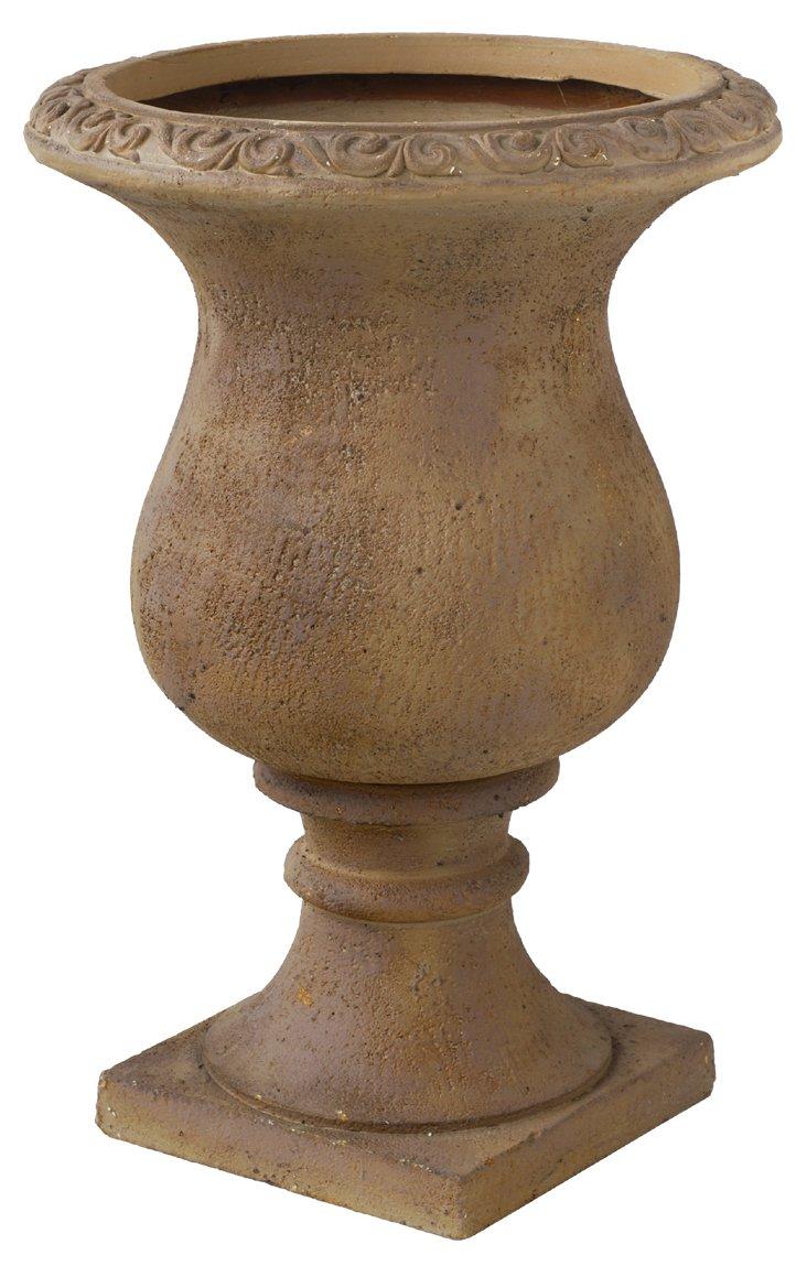 """20"""" Ceramic Urn, Taupe"""
