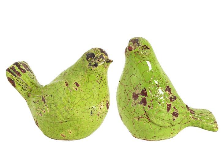 Asst. of 2 Green Birds
