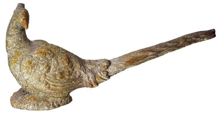 "9"" Ceramic Bird Objet, Cream"