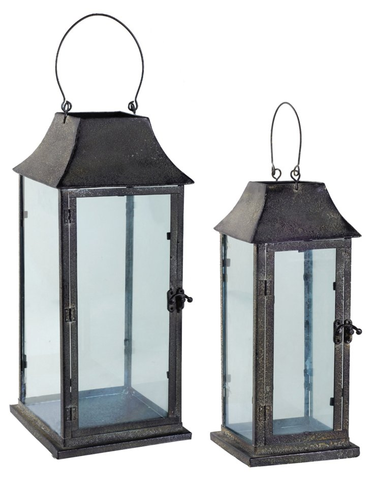Asst. of 2 English Lanterns, Black