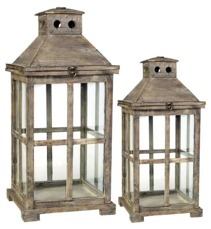Asst. of 2 Colonial Lanterns, Brown
