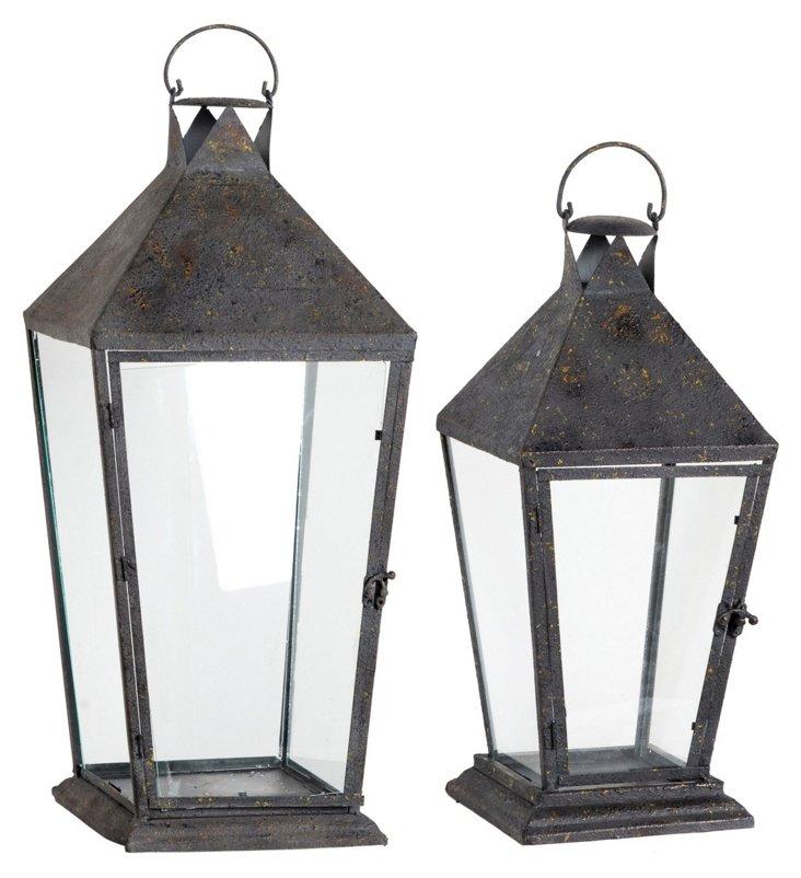 Asst. of 2 Streetlight Lanterns, Gray