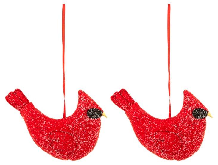 Hanging Cardinal Ornaments, Asst. of 2