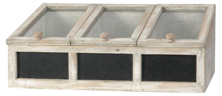 """21"""" Blackboard Greenhouse, Beige"""