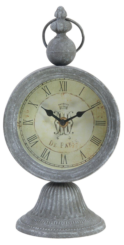 Galvanized Clock, Round