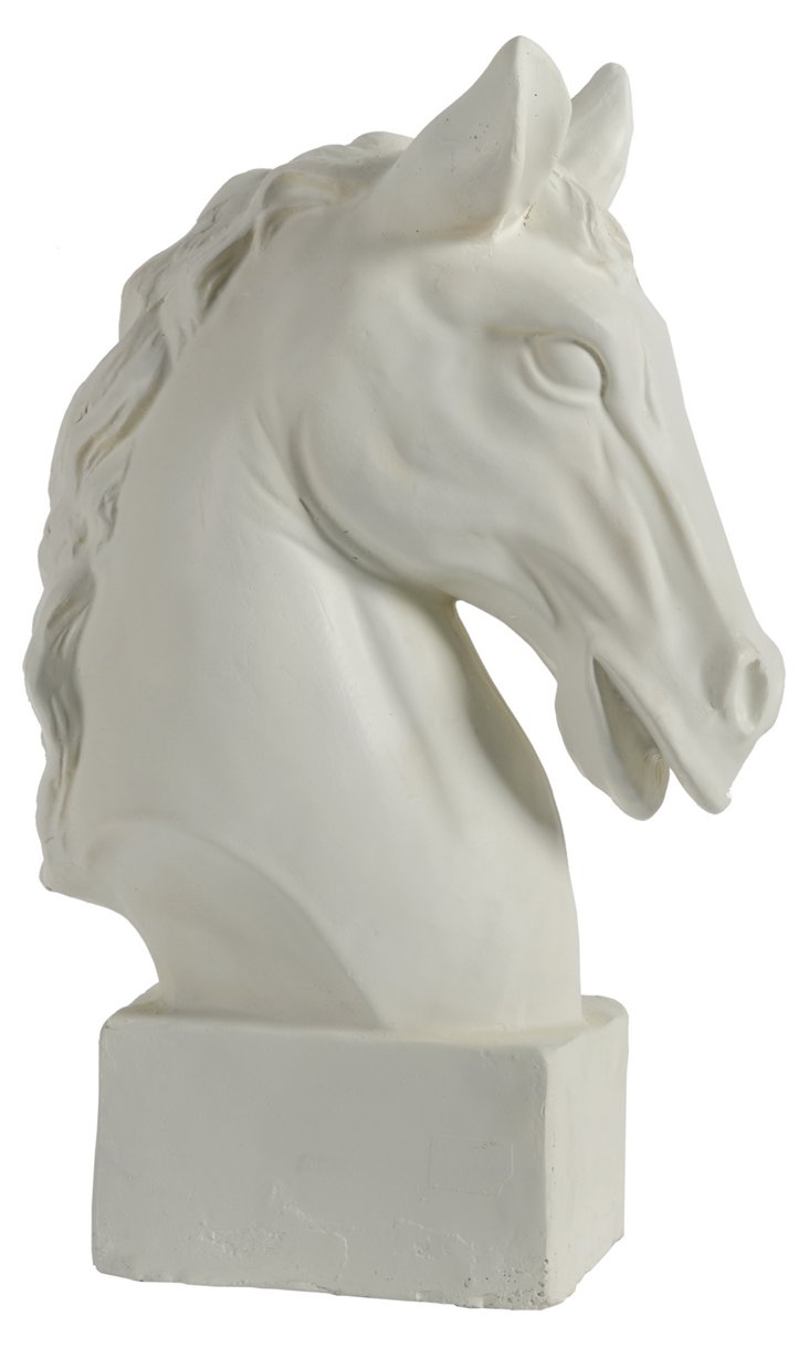 "16"" Classical Horse Statue, White"