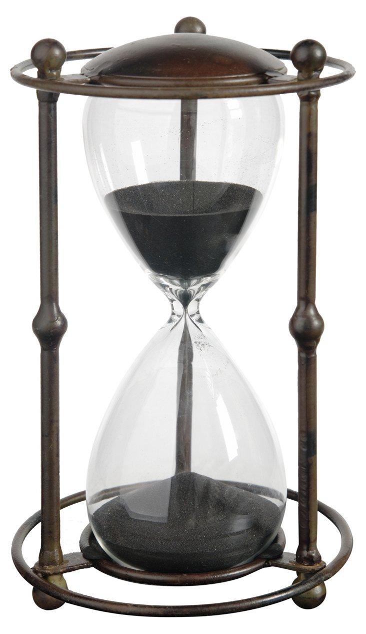Hourglass w/ Stand, Black