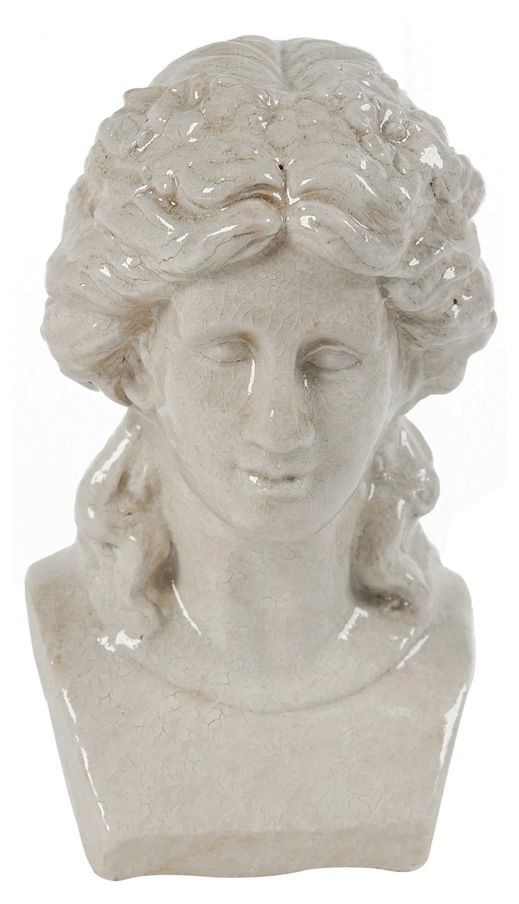 "12"" Classical Female Bust, White"