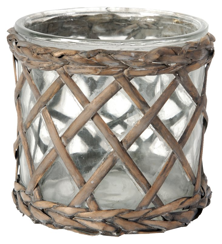 Round Willow Candleholder