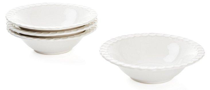 S/4 Porcelain Bee Cereal Bowls