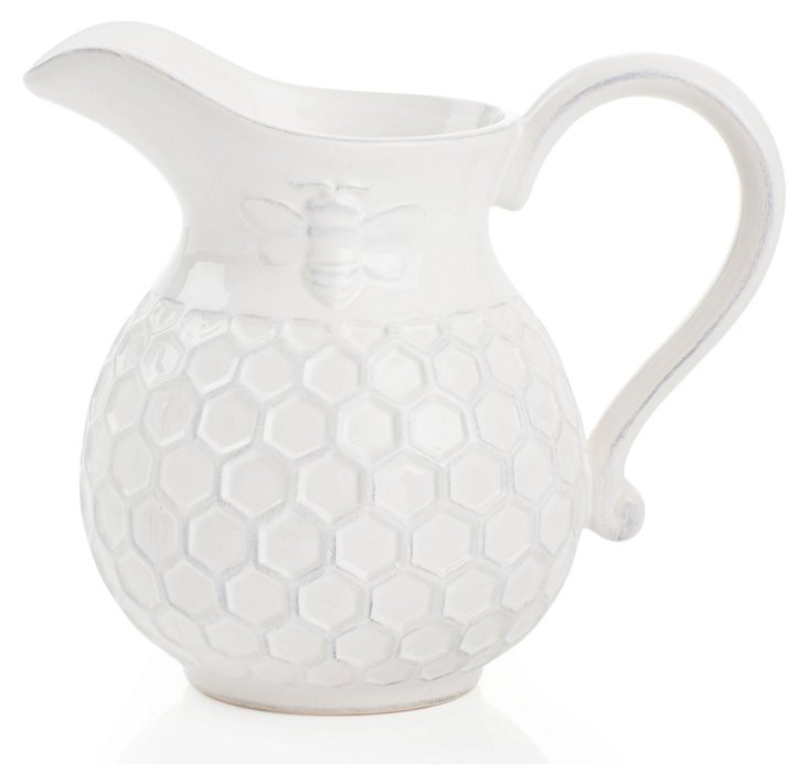 Round Porcelain Bee Pitcher