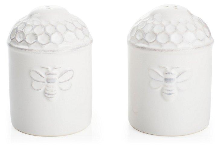 Porcelain Bee Salt & Pepper Shakers