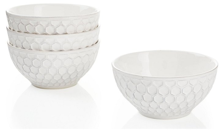 S/4 Bee Fruit Bowls