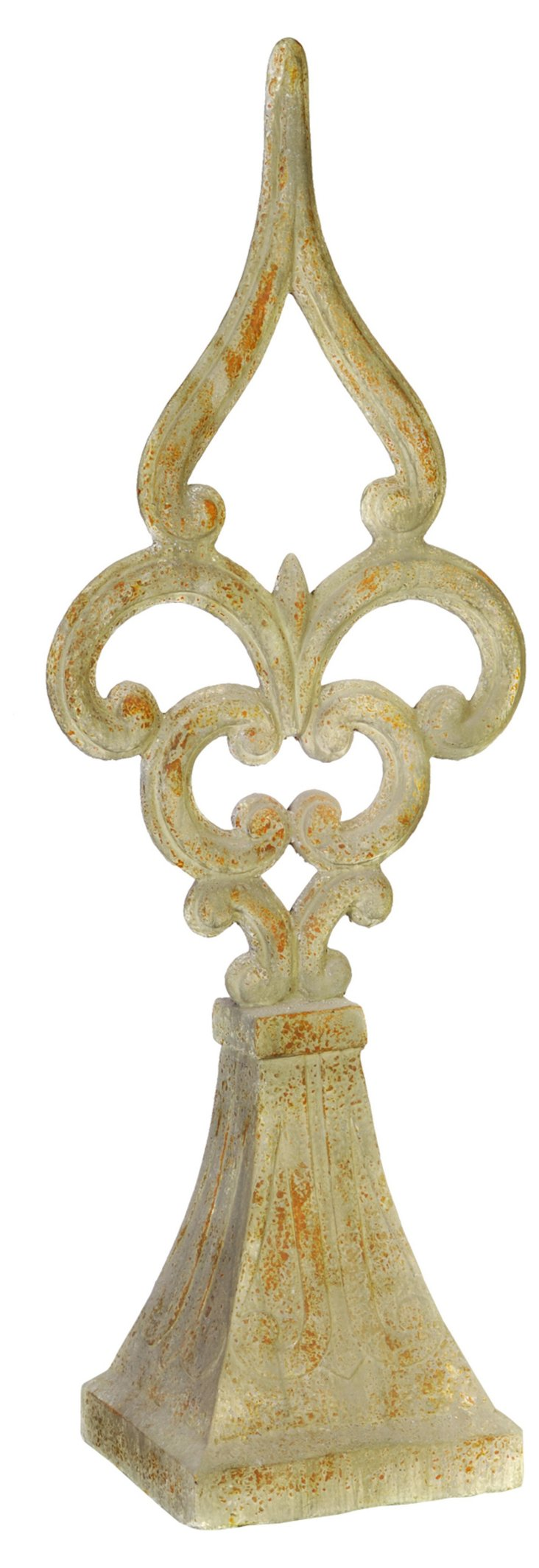 """41"""" Weathered Finial, Beige"""