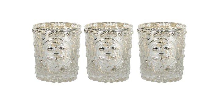 S/3 Fleur-de-Lis Candleholders