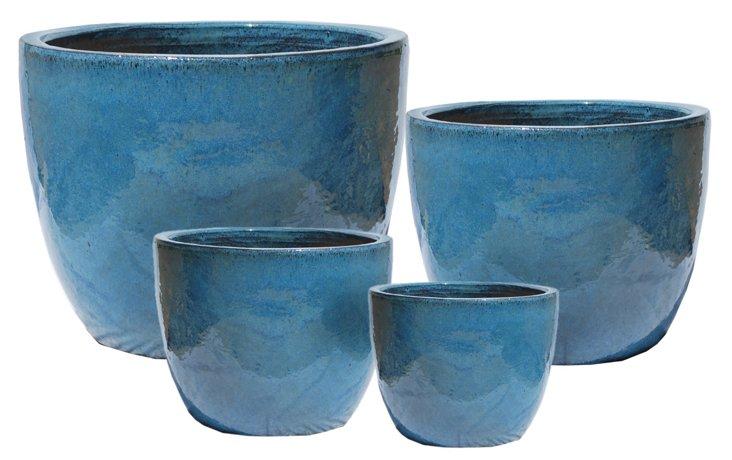 Asst. of 4 Tall Bowls, Blue