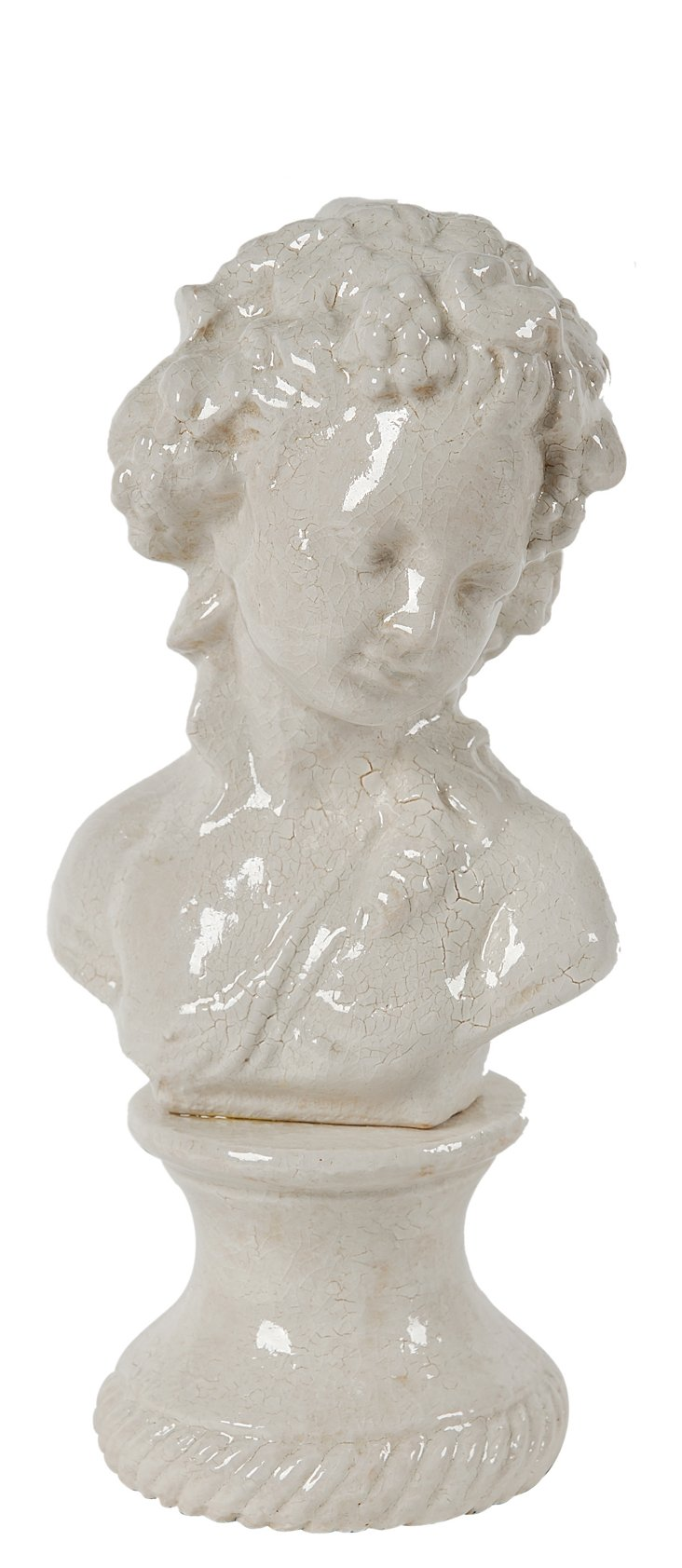 """14"""" Bust Statue, White"""