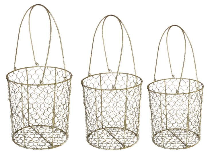 Asst of 3 Wire Baskets