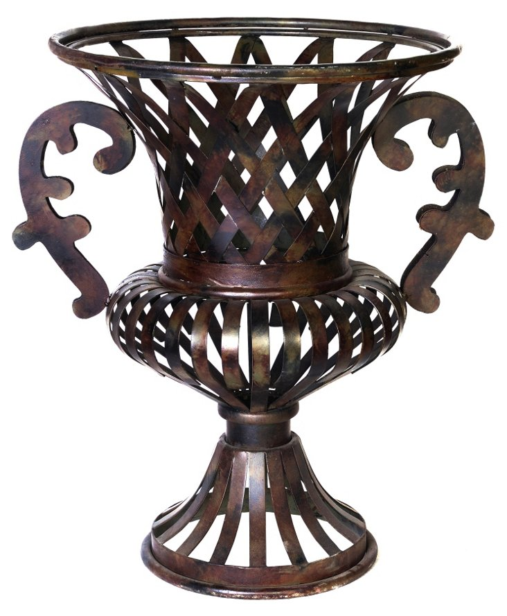 """24"""" Woven Urn, Brown"""