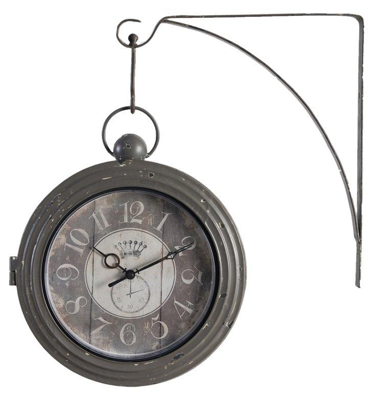 Weathervane Clock, Charcoal