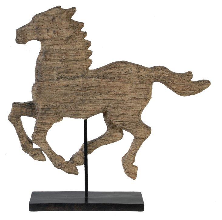 """20"""" Wild Horse Objet, Brown"""