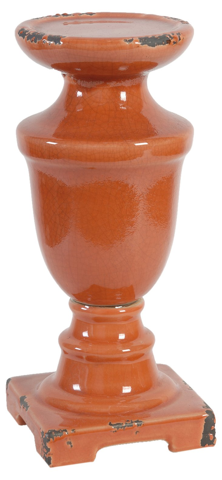 """10"""" Ceramic Cottage Candleholder"""