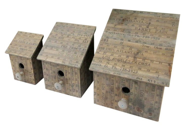 Numbered Birdhouses, Asst. of 3