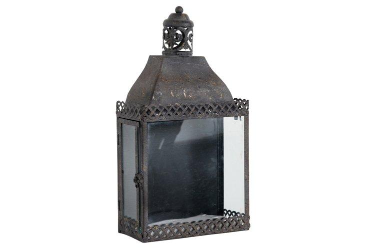 """18"""" English Lantern, Black"""