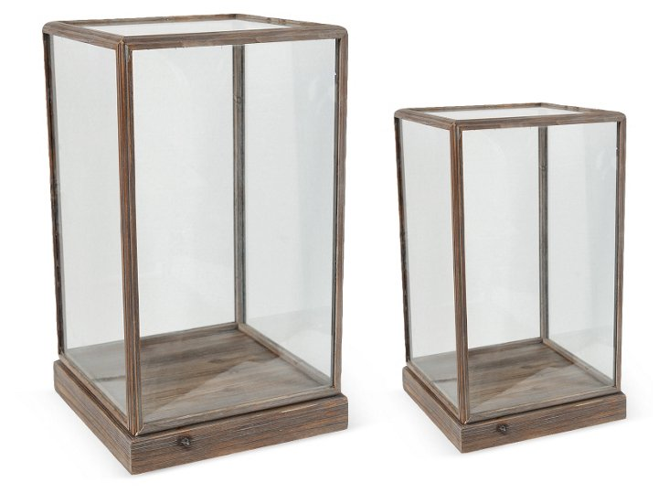 Asst. of 2 Curio Boxes, Brown