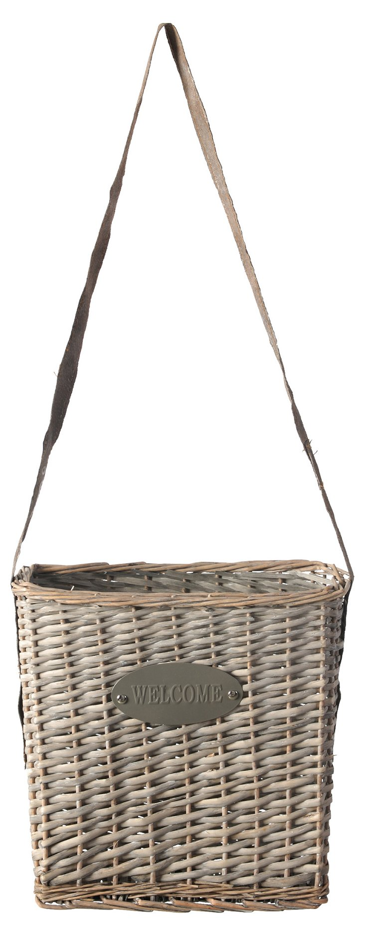 Hanging Willow Welcome Basket