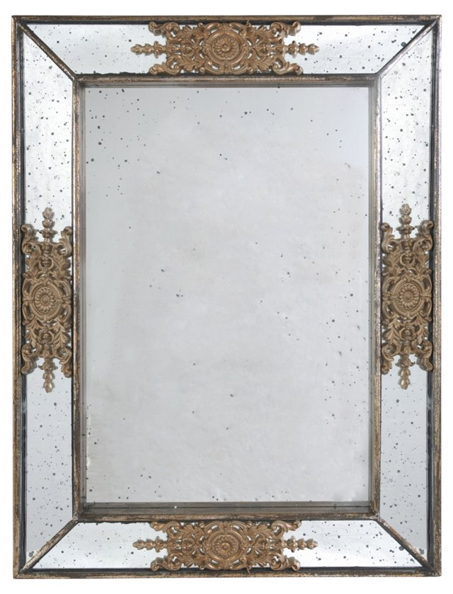 Cecily Wall Mirror, Silver/Gold