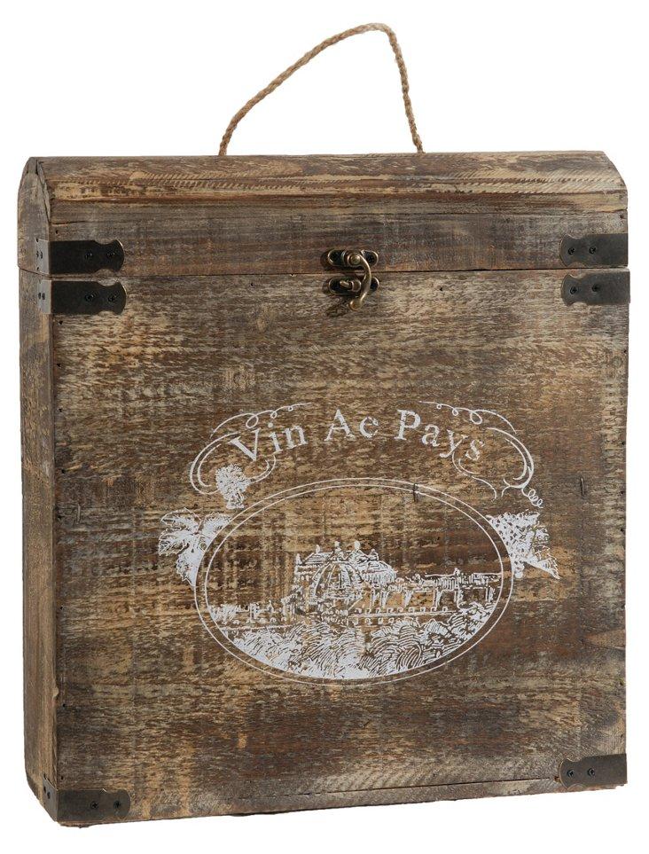"15"" Rustic Double Wine Box"